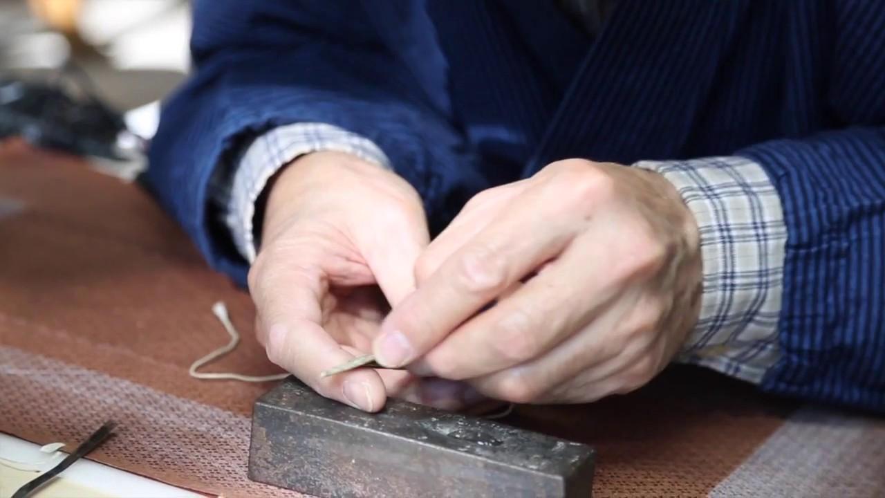 washi katagami artisan japon