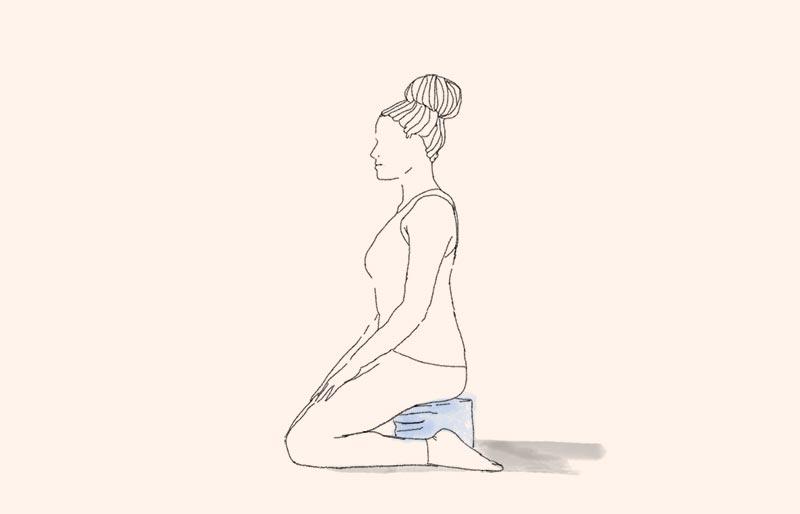position de méditation en diamant