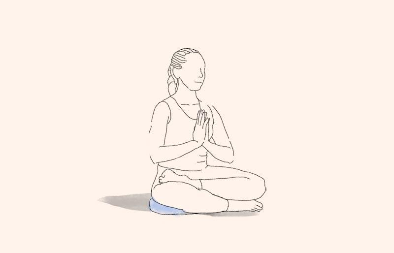 position de méditation en quart de lotus